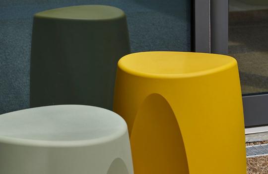 Ryno stools outdoors