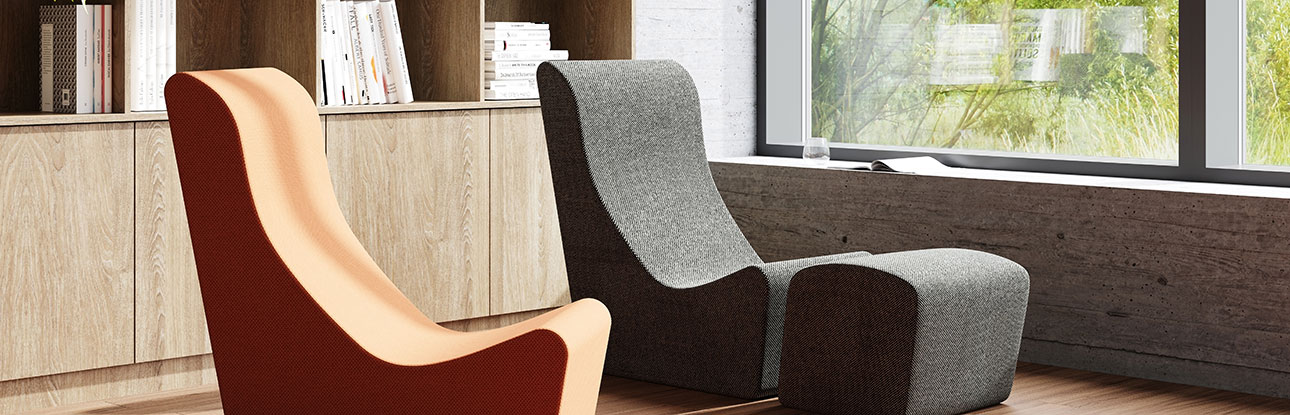 Mental health furniture in a homely lounge